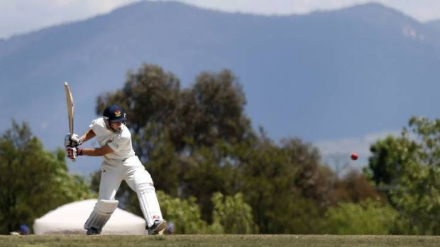 Tuggeranong batsman Michael Barrington made 79 against Wests-UC at Chisholm Oval.