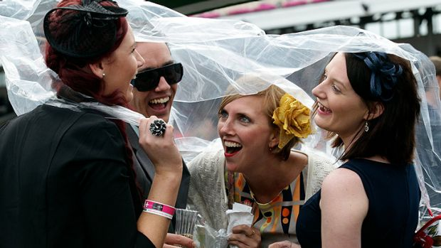 Rain and thunderstorms may be on the cards for Melbourne Cup crowds tomorrow.