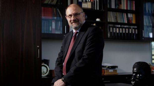 The calm before the storm: then ombudsman Allan Asher in his Canberra office in July 2011.
