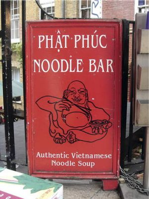 Word play ... cheeky puns are popular with restaurateurs.