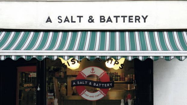 Memorable name ... New York's A Salt & Battery cafe.