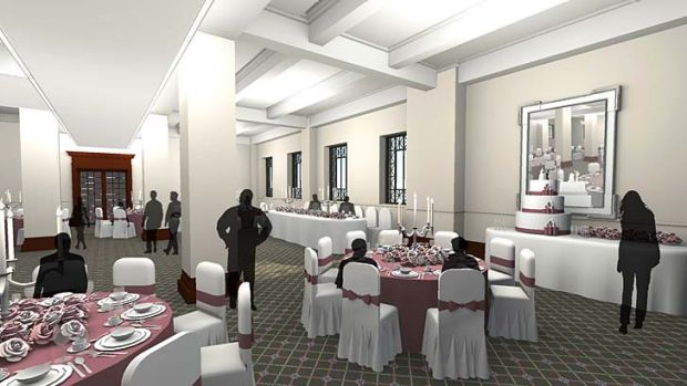 An artist's impression of how the Kedron Room will appear after City Hall's $215 million refurbishment.