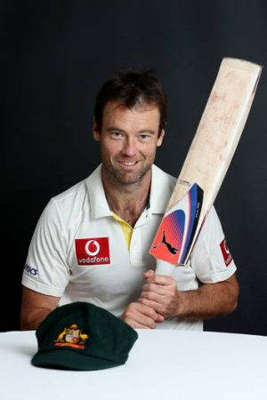 On debut: Victorian player Rob Quiney and his baggy green.
