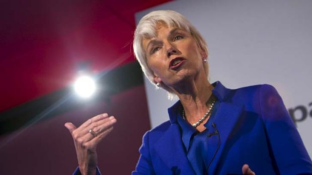 Bank on it ... Westpac boss Gail Kelly at the company's AGM in Sydney.