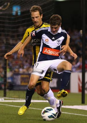 Birthday boy: Marco Rojas celebrated his 21st with two goals against the Wellington Phoenix at Etihad Stadium.