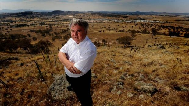 Chief executive of the Village Building Company, Bob Winnel, looks over south Tralee.