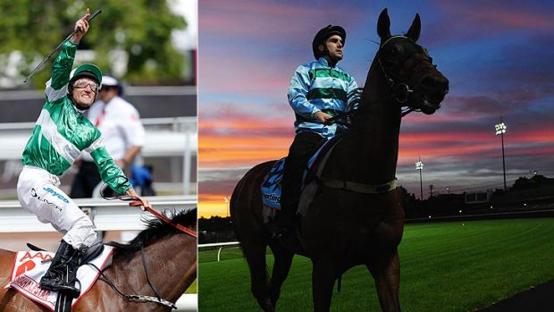 Damien Oliver salutes his late brother Jason after the Victoria Derby win on the weekend and (right) WA's fledgling star ...