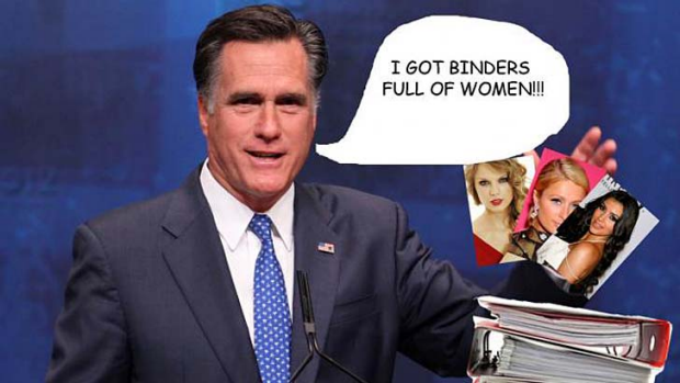 One of the images that sprung up as a part of #bindersfullofwomen.