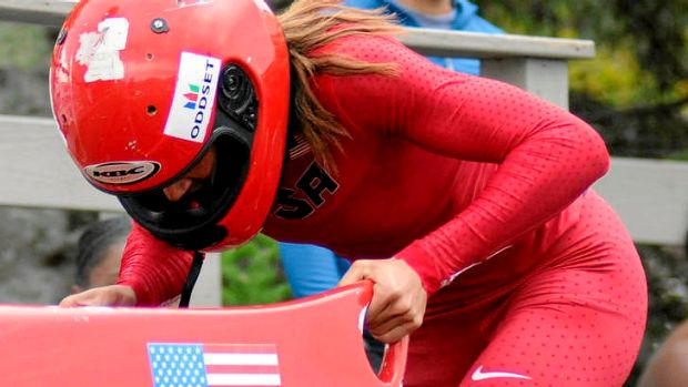New hurdle ... Lolo Jones competing in the bobsleigh.