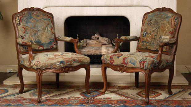 A pair of Louis XV chairs.