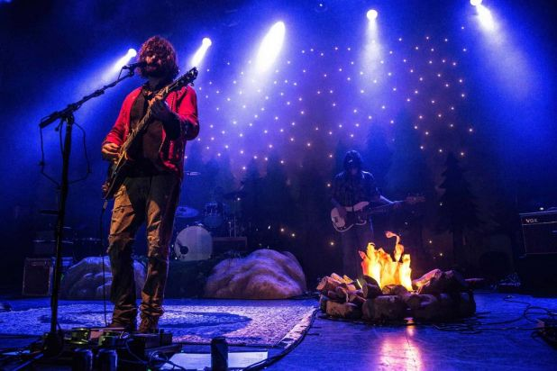 Angus Stone onstage.