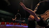 Webers Circus visits Boondah Reserve at Narrabeen on Sydney's Northern Beachesshow preparation and practicesmh ...
