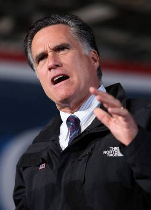Republican presidential candidate Mitt Romney's hair still has it's lustre, but he's not in office yet.