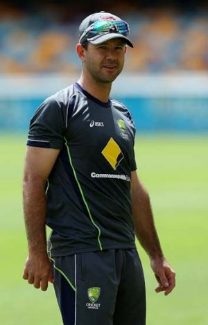 Ready for action ... Ricky Ponting.
