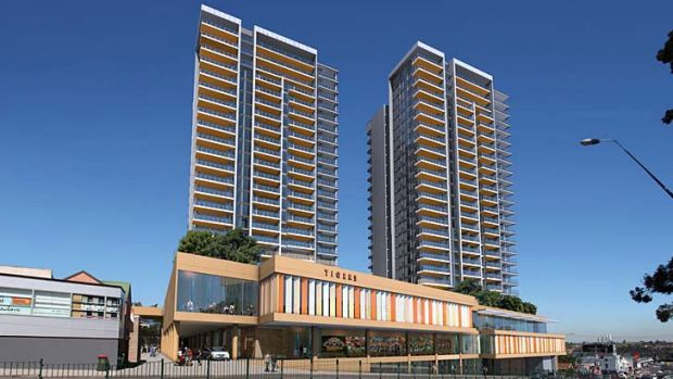 ''Slimmed down'' ... an artist's impression of the new development. Rozelle Village is demanding the return of $750,000 ...