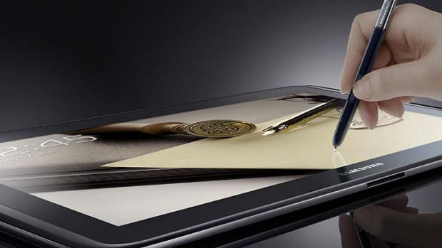 Samsung's Galaxy Note 10.1 ... infringes on patents, says Apple.