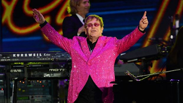Elton John will bring his flamboyant stage show to Perth this afternoon to open the Perth Arena.
