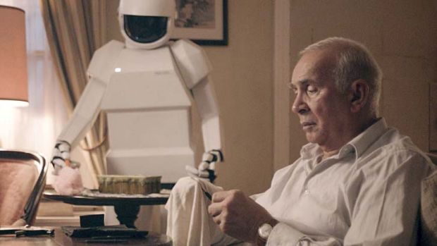 Battle stations … retired jewel thief Frank (Frank Langella) resents his son for bringing a ''domestic'' robot ...