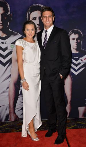 Matthew Pavlich and the Fremantle Dockers are dressed by Daniel Hechter.