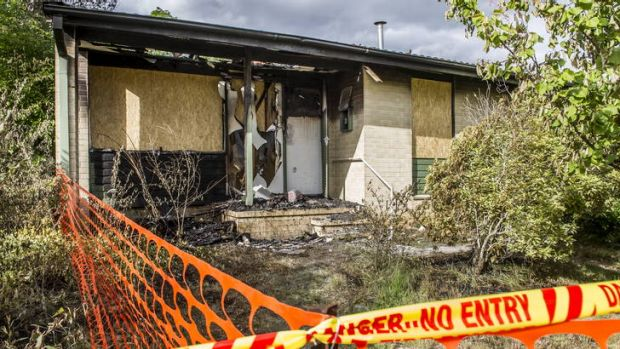 The Deery's fire damaged home on Gairdner Circuit in Kaleen.