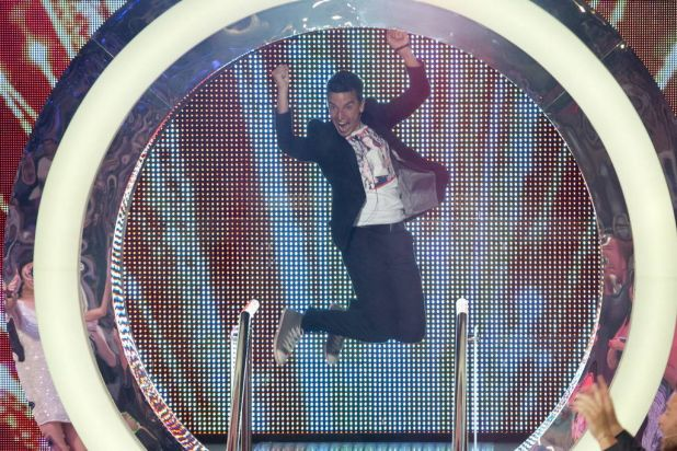 Ben jumps for joy, the first time ... Big Brother final 2012