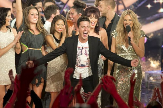 Ben with all the housemates ... Big Brother final 2012