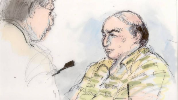 Jailed ... a courtroom sketch of Mark Basseley Youssef .
