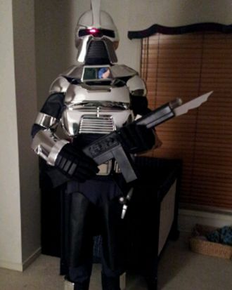 Shawn Fyfe's Battlestar Galactica Cylon costume he will be attending Brisbane Supanova in.