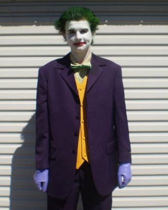 Damon Lesueur in his Joker costume.