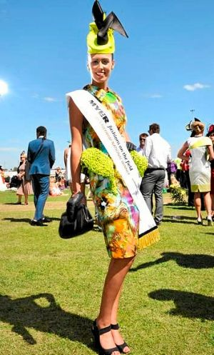 Fashions on the Field winner Amy Robson.