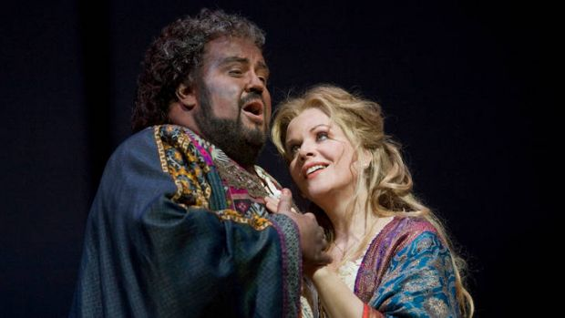 Under pressure … Johan Botha and Renee Fleming play the leads in <i>Otello</i>.