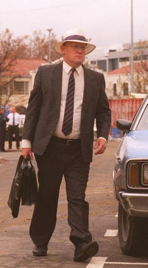 David Eastman on his way to face charges concerning the murder of Assistant Commissioner Winchester in 1995.