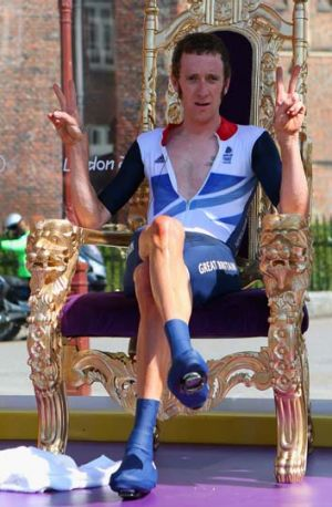 Hit ... Bradley Wiggins has been hospitalised.