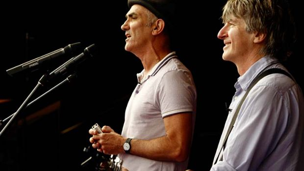 Going on tour ... Paul Kelly and Neil Finn.