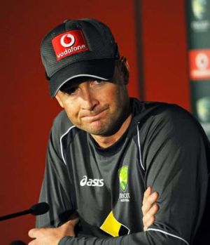 Michael Clarke speaks to the media in Brisbane on Thursday.