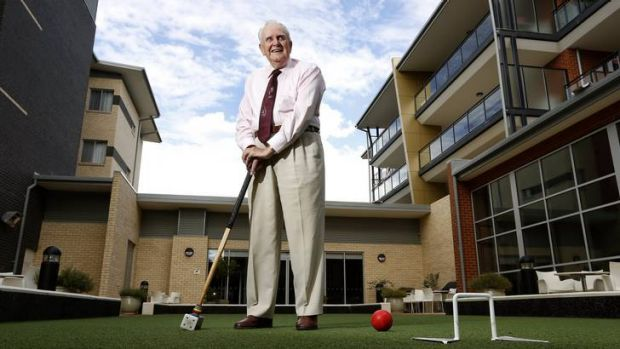 Gordon Lockwood, 90, at Goodwin House in Ainslie, he believes it is important to keep active.