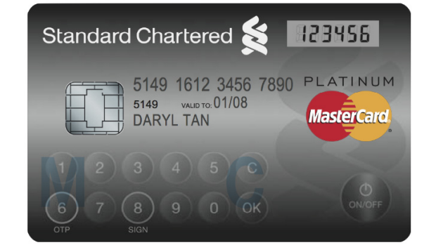 Touch-screen buttons and an LCD screen ... the Display Card.