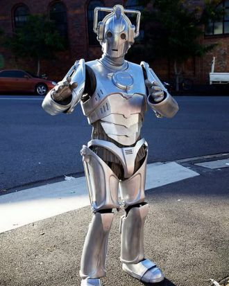 Steven Kocsis in his home-made Cyberman (Doctor Who) costume.