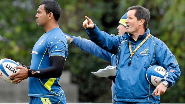 Australian coach Robbie Deans at Wallabies training in Paris.