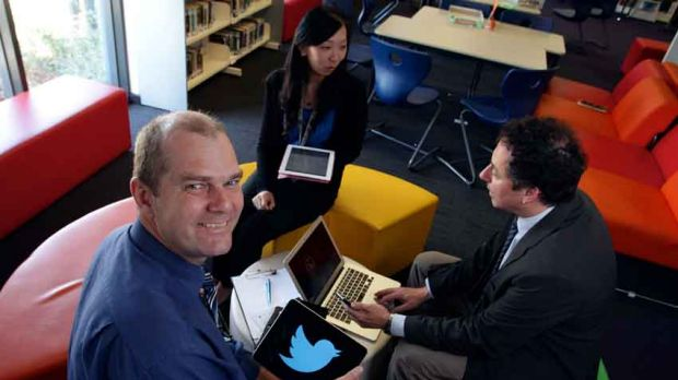 Keysborough College reacher Roland Gesthuizen likes Twitter to fishing.