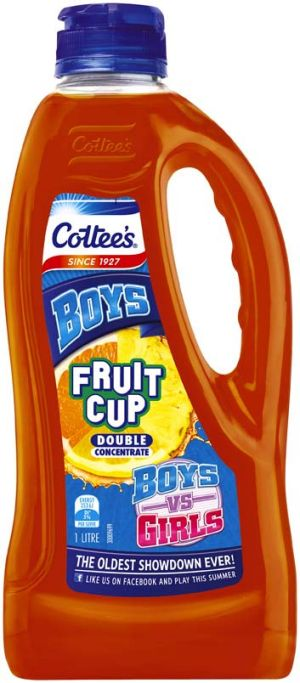 The promotion is part of a Cottee's Facebook campaign called 'Boys vs Girls - the oldest showdown ever!'