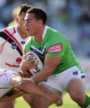 Canberra's Bronson Harrison is now tipped to replace Miller at the Dragons.