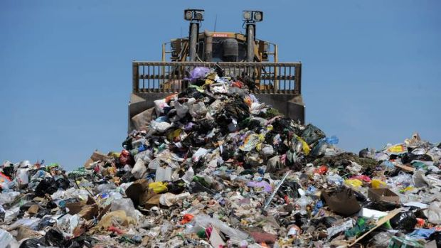The Mugga lane Tip. Pictured is the current landfill site.