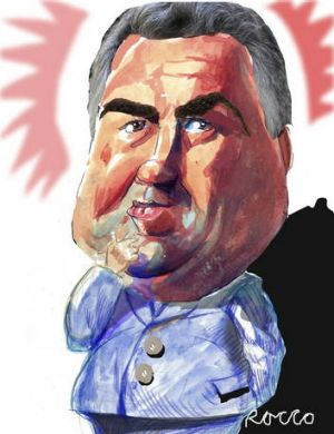 Joe Hockey. <Illustration: Rocco Fazzari.</i>