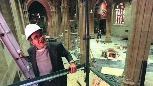 A solid foundation ... Boak Jobbins was a leader in the restoration of St Andrew's Cathedral in Sydney.