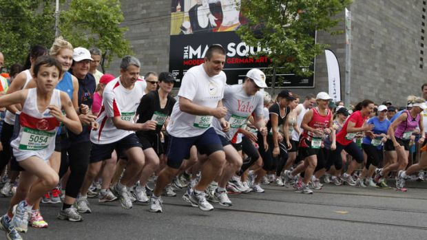 They're off ... More than 20,000 are set to run in tomorrow's City2Sea.