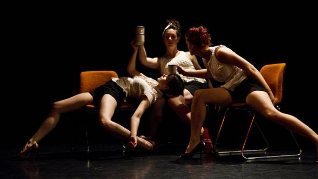Unkempt Dance in Short + Sweet Dance: from left, Carly Armstrong, Jessica Lewis, Amy Wiseman.  <i>Photo: Loma Sim </i>