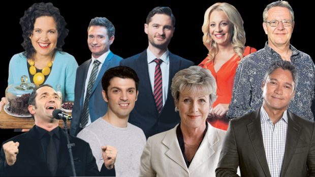 Stars sidelined for the Walkleys in Canberra, clockwise from top left, Annabel Crabb, Dave Hughes, Charlie Pickering, ...