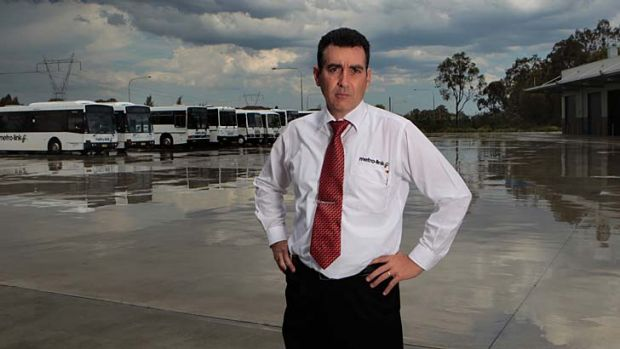 Last stop … Giuseppe Oliveri, the chief executive of Metro-Link, which lost out when the government put Sydney bus ...
