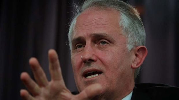 """Malcolm Turnbull: promised everyone will have """"fast"""" broadband."""